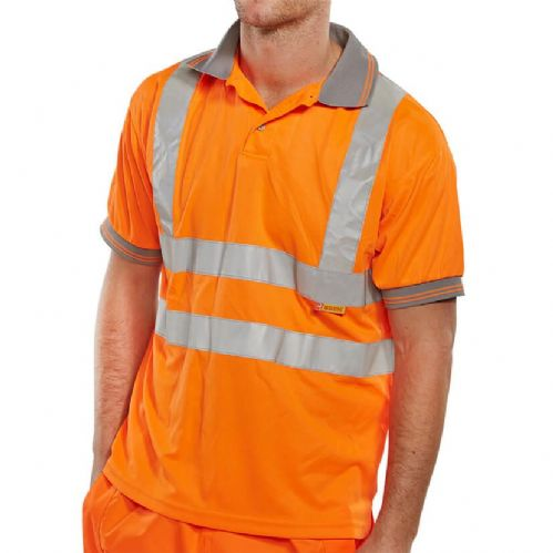 BSeen Hi Vis Orange Polo Shirt